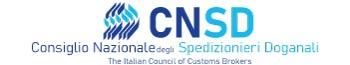 Consiglio Nazionale Spedizionieri Doganali – The italian council of customs brokers Logo